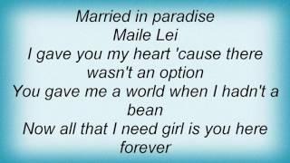 Roy Harper - Maile Lei Lyrics
