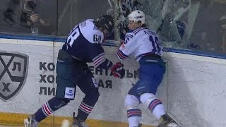 Plotnikov hit on Kosov breaks glass