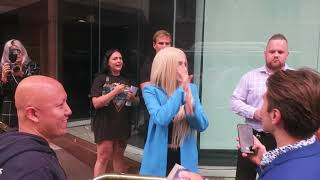 Ava Max Meeting Fans After Performance In Sydney Australia