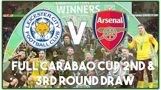 Full Carabao Cup 2nd and 3rd Round Draw Fixtures & Reaction