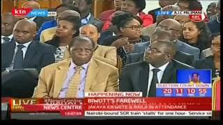 Area MP Hon. Jackson KiptanuI speaks during Nicholas Biwott's funeral service