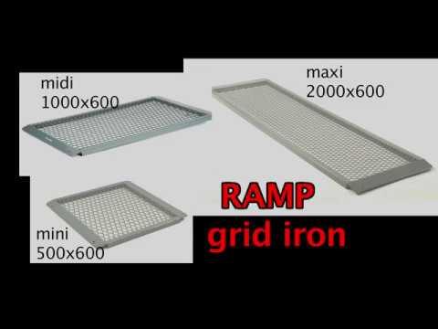 Rampe gittersystem 1000x600x30 mm.