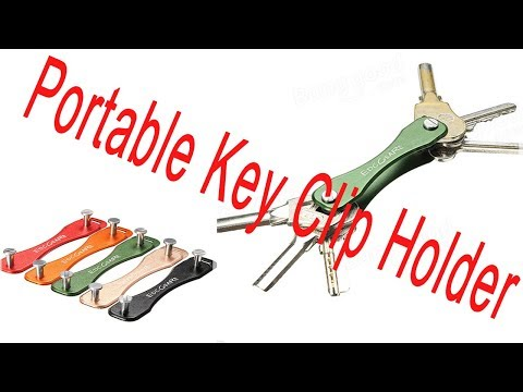 AOTDDOR Aluminum Portable Key Clip Holder