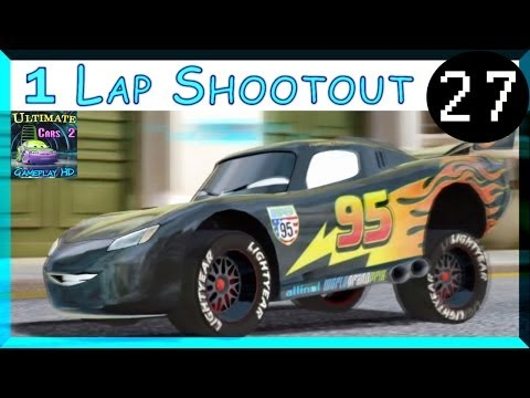 Carbon Fiber Lightning McQueen Cars 2 Game One Lap Shootout On Hyde Tour Part 27
