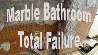 Marble Bathroom Installed On Schluter Total Failure.
