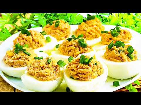 Tuna Deviled Eggs – Cold Appetizer Recipe