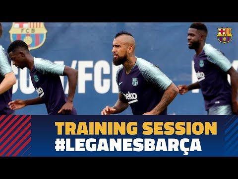 Recovery workout after the league match against Girona