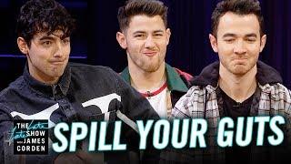 Seru dan Kocak, Jonas Brothers Bermain 'Spill Your Guts' di Acara 'Late Late Show with James Corden'