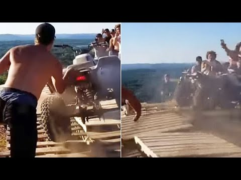Surprise! ATV Rams Into Crowd After Failing To Launch Off Cliff