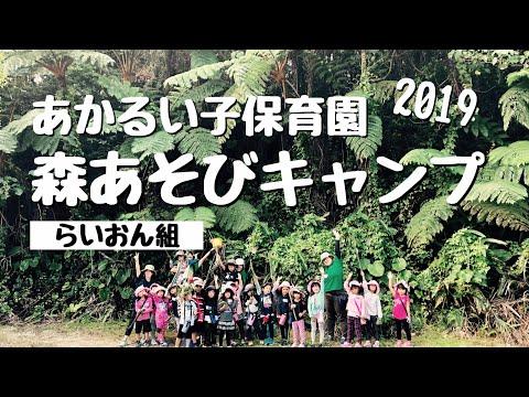 あかるい子保育園「らいおん組・森あそびキャンプ2019」(ネコのわくわく自然教室 2019/10)