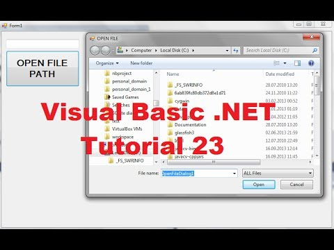 Visual Basic .NET Tutorial 23 -How To Use OpenFileDialog (FileName, Filter, Multiselect ..)