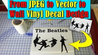 From Raster To Vector To Wall Vinyl Decal Design