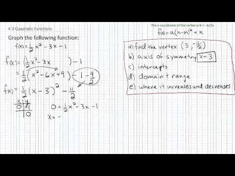 Graphing Quadratic Functions p3