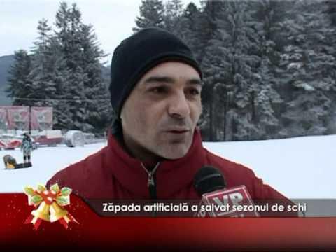 Zăpada artificială a salvat sezonul de schi