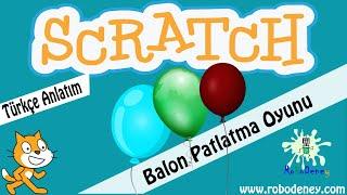 Scratch Balon Patlatma Oyunu