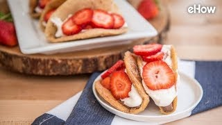 Strawberries and Cream Dessert Tacos Recipe