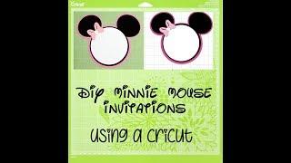 Cricut   DIY   Minnie Mouse Birthday Invitations