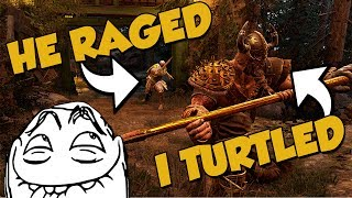 I TURTLED, HE RAGED! - For Honor Funny Moments