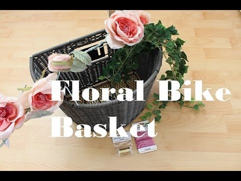 Fahrradkorb dekorieren | Floral Bike Basket