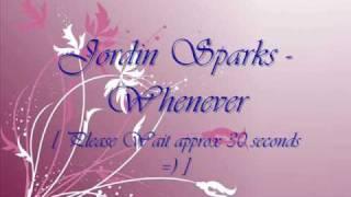 JORDIN SPARKS - Whenever