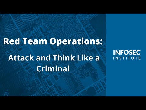 Red Team Operations: Attack and Think Like a Criminal - YouTube