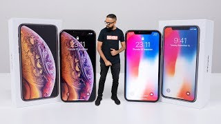 iPhone XS GOLD Unboxing vs iPhone X