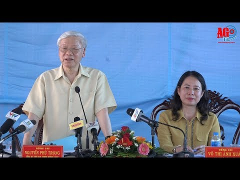 Tổng Bí thư Nguyễn Phú Trọng đánh giá cao mô hình nuôi cá tra xuất khẩu đạt hiệu quả kinh tế cao ở Mỹ Phú