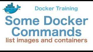 Docker Training 12/29: Some Docker Commands (list images and containers)