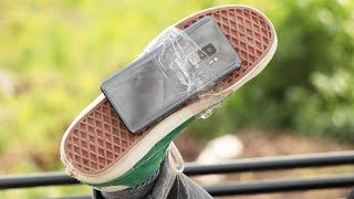 Samsung Galaxy S9+ Sağlamlık Testi (Ayakkabının Altına Bantlayıp Yürüdük!) - dooclip.me