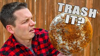 How to Restore Rusty Cast Iron