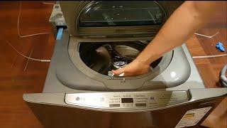 Kleinste Camping Waschmaschine der Welt. LG Twin Wash Mini FM37E1WH, 3.5 Kg. Stand alone Betrieb.