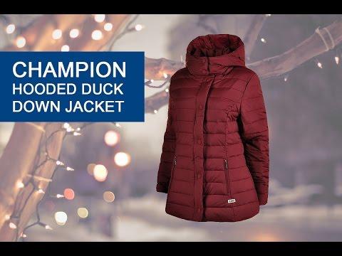 Пуховик Champion Hooded Duck Down Jacket, відео - інтернет магазин MEGASPORT