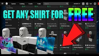 How To Get Free Shirts In Roblox