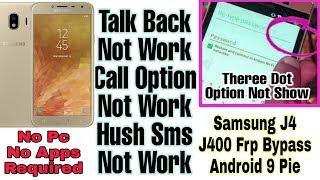 Samsung J4 (J400F) 9 0 Pie FRP/Google Account تخطي حساب جوجل