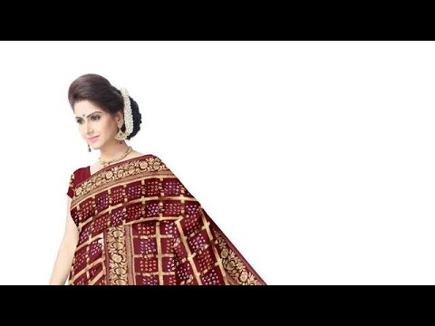 All Over Maroon Color Fancy Design Art Gaji Silk Bandhani Saree