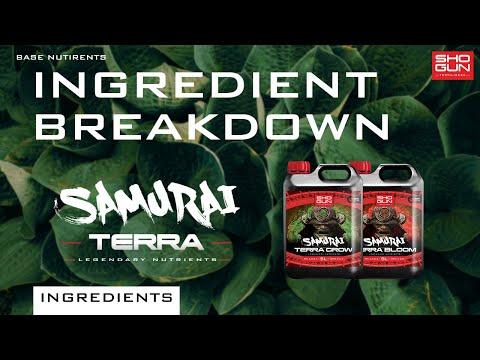 Ingredients Breakdown SHOGUN Samurai Terra - Base Nutrient