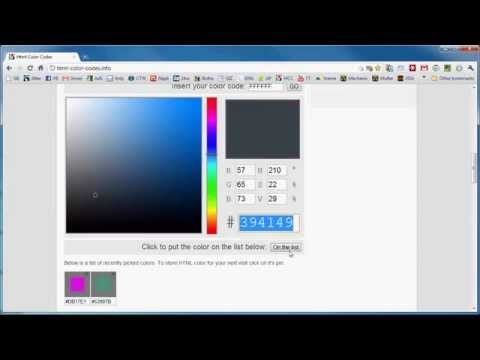 mp4 Html Color Codes Info, download Html Color Codes Info video klip Html Color Codes Info