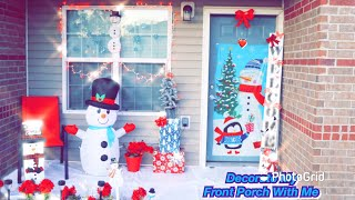 Decorate my front porch with me for Christmas 😍⛄️🎄Outdoor Christmas Decorations  #VlogmasDay2