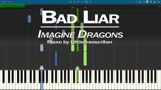 Imagine Dragons   Bad Liar (Piano Cover) Synthesia Tutorial By LittleTranscriber