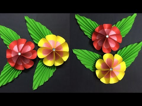 How to make 5 petal paper flower making paper flowers diy paper how to make easy paper flower making paper flowers step by step diy mightylinksfo