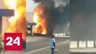 Сбежавшая от водителя фура спалила заправку под Новороссийском - Россия 24