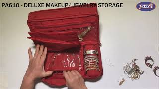 PA610 Deluxe Makeup & Jewelry Storage Organizer | Yazzii Travel Bags