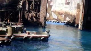 Universal Studios Hollywood - Water World - boat fail