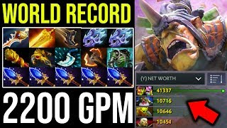 WORLD RECORD!!! 2200 GPM 9Min Radiance [Alchemist] How to Jungle Radiant Side 15Items = 30Min Dota2