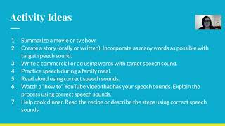Speech Therapy: Free Exercises For Articulation And Phonology Carryover Activities For Home Practice