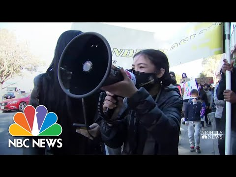 Activists Denounce Increase In Hate Crimes Against Asian Americans | NBC Nightly News