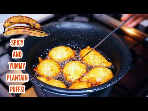 Peppered plantain puffs | Very easy to make and so delicious!😋