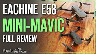 Eachine E58 'DJI Mavic Mini' Unboxing, Comparison & Flight Test