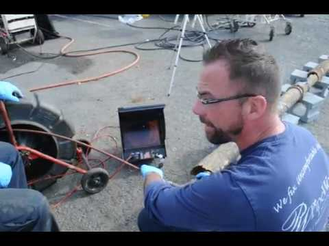 Video Camera Sewer Line Inspection