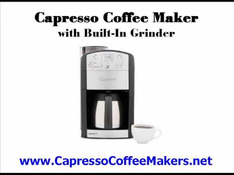 Capresso Coffee Makers - Electric Coffee Makers For The True Coffee Lover - Thermal Coffee Makers